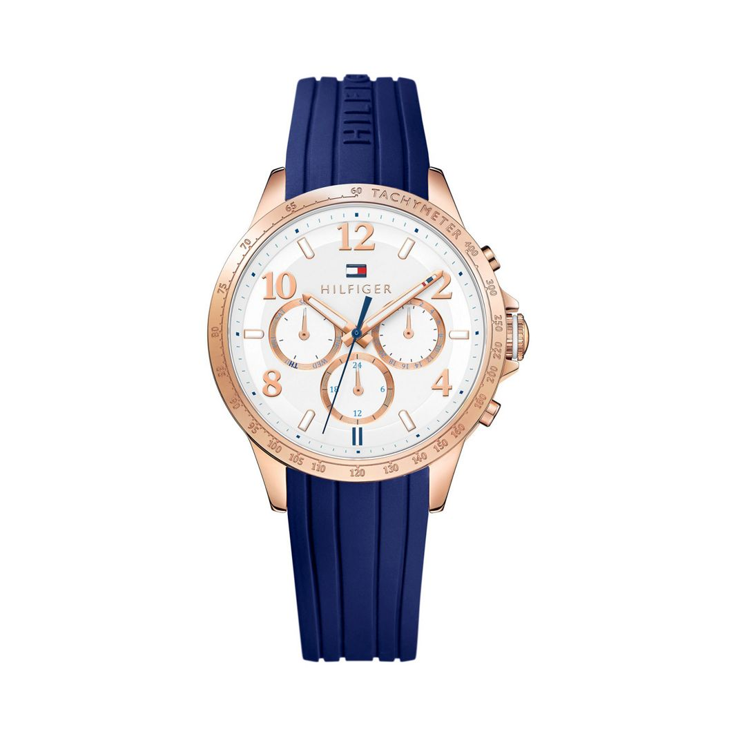 Tommy Hilfiger - Ladies blue silicone chronograph watch 1781645