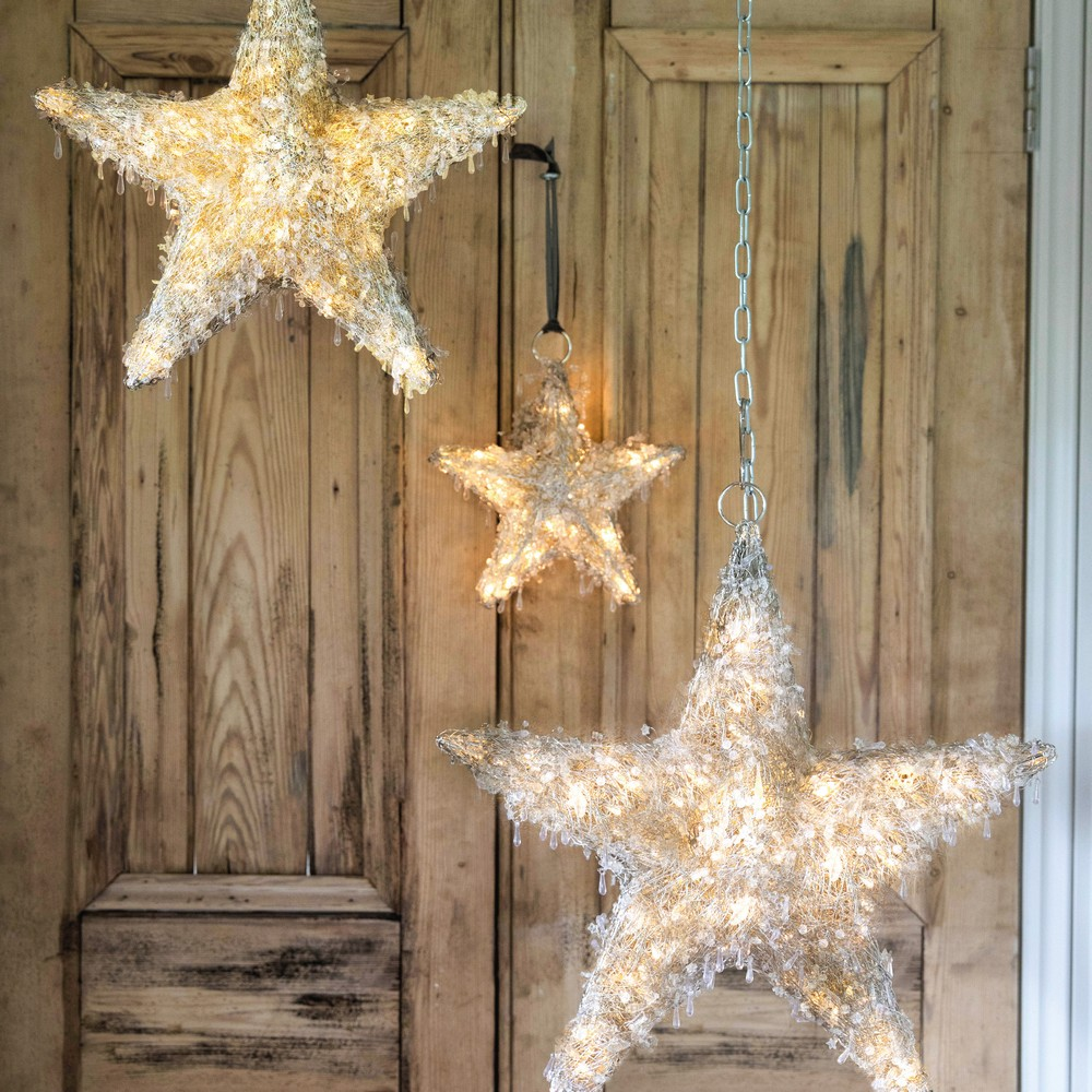 Culinary Concepts HL-LEDSTR-SM Christmas Led Hanging Star Small