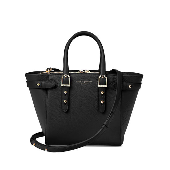 Aspinal Mini Marylebone Pebble Black