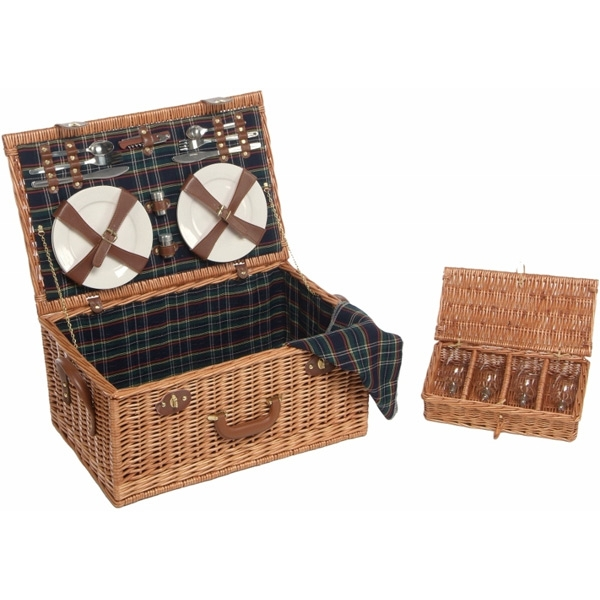 Lifestyle 4 Person Willow Picnic Hamper LFS1003
