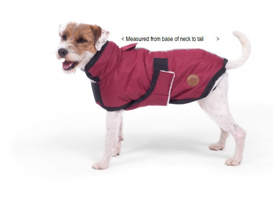 PETFACE 14067 WATER RESISTANT DOG COAT RED 50CM