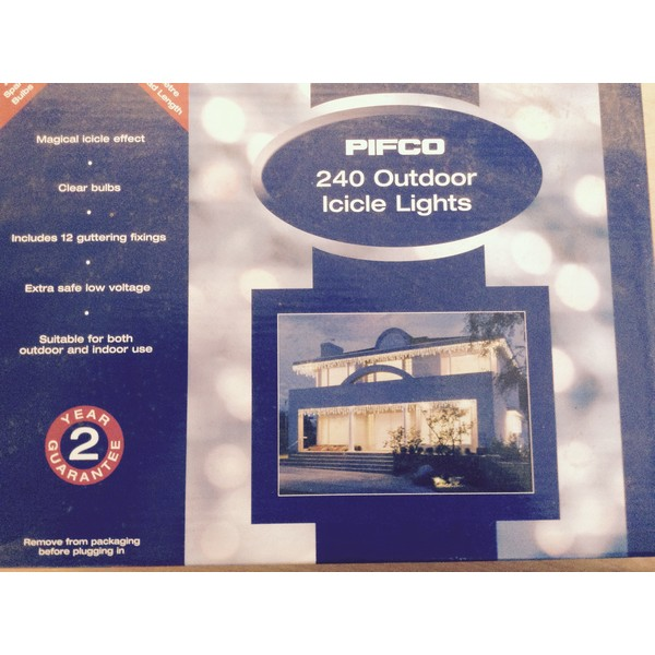 Pifco 240 Outdoor Icicle Christmas Lights