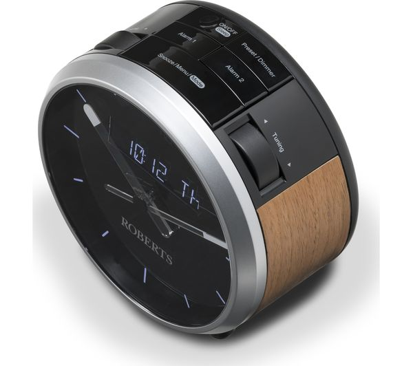 Roberts Ortus Time Clock Radio - Brown/Black