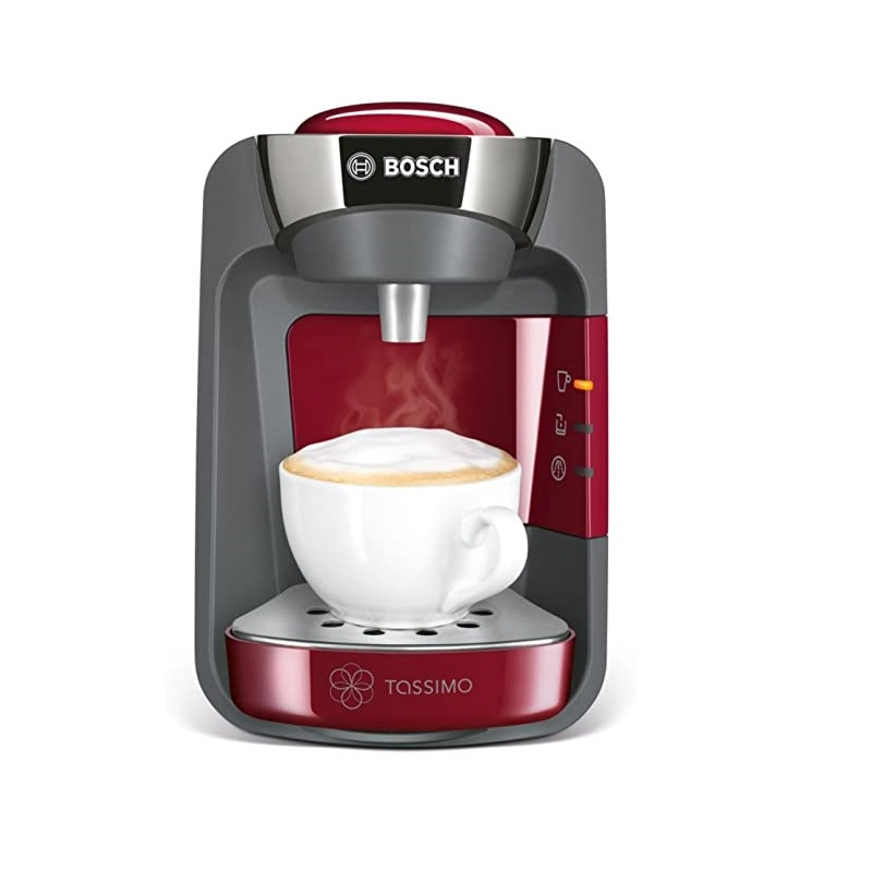 Bosch Tassimo Suny TAS3203GB Coffee Machine, 1300 Watt, 0.8 Litre-Red