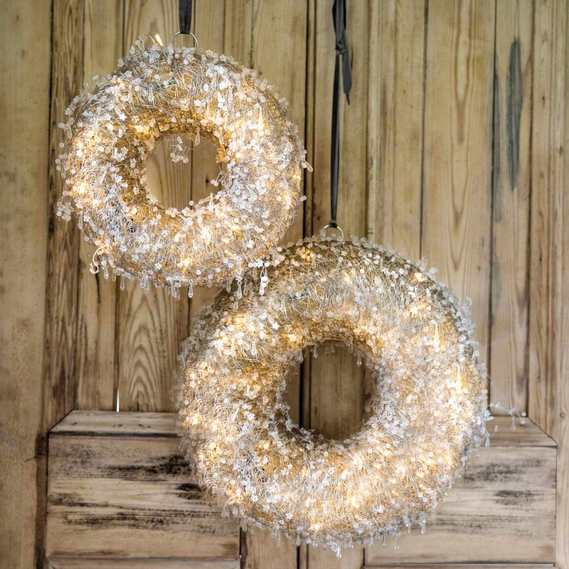 Culinary Concepts LEDWRT-LGE Christmas Led Wreath Large