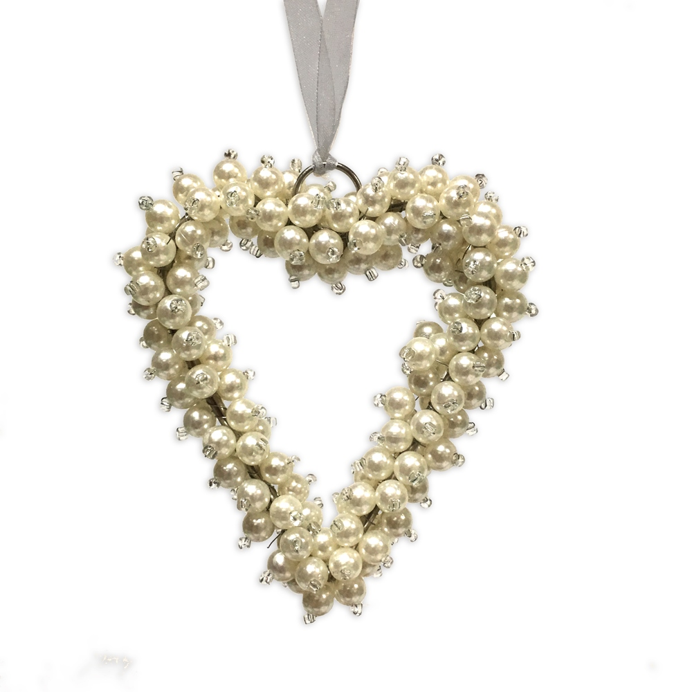 Culinary Concepts Christmas Decoration Small Hanging Pearl Heart