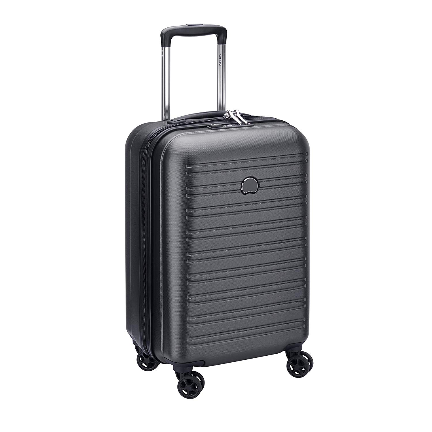 Delsey Segur 2.0 4 Wheel Cabin Suitcase - 55cm - Black 463859