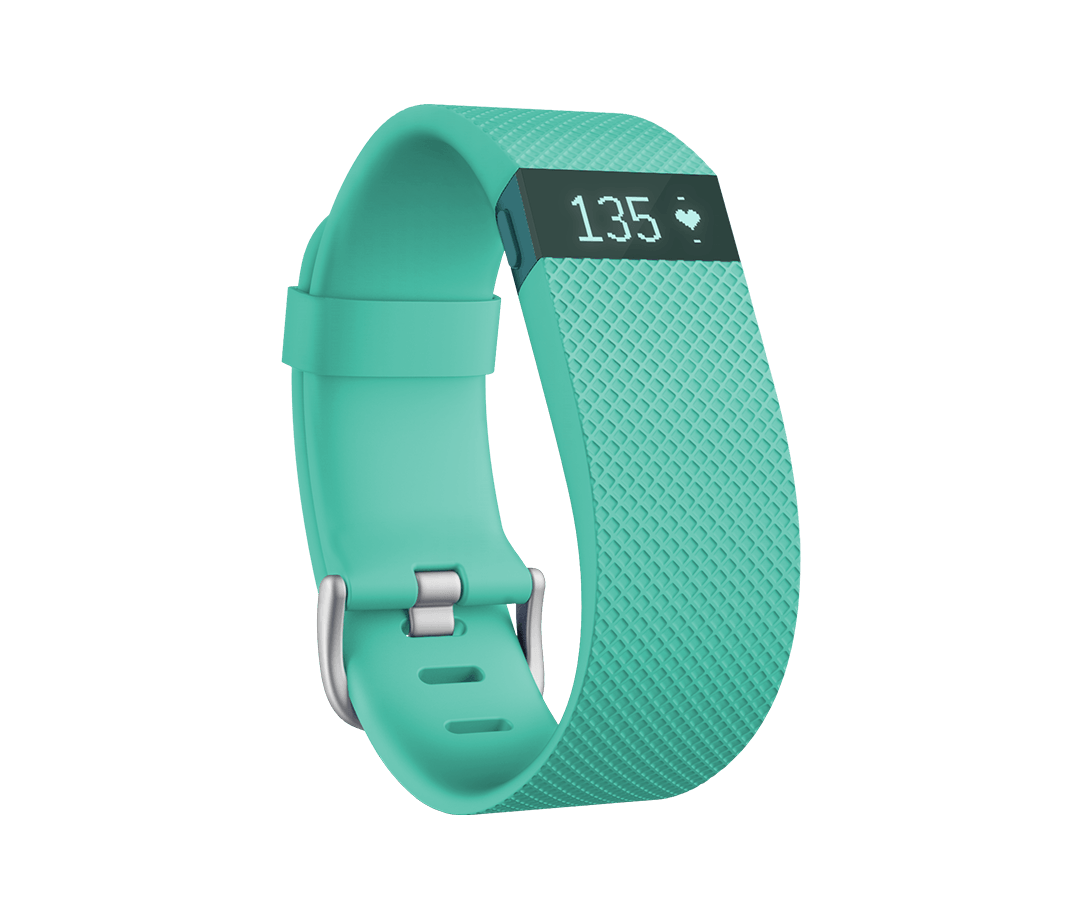Fitbit FB405TEL Charge HR Activity And Sleep Tracker Teal Large