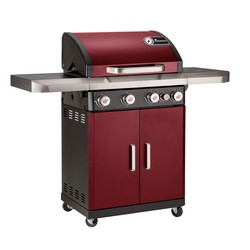 Landmann 12234 Rexon 4.1 4 Burner Gas BBQ Bordeaux Red