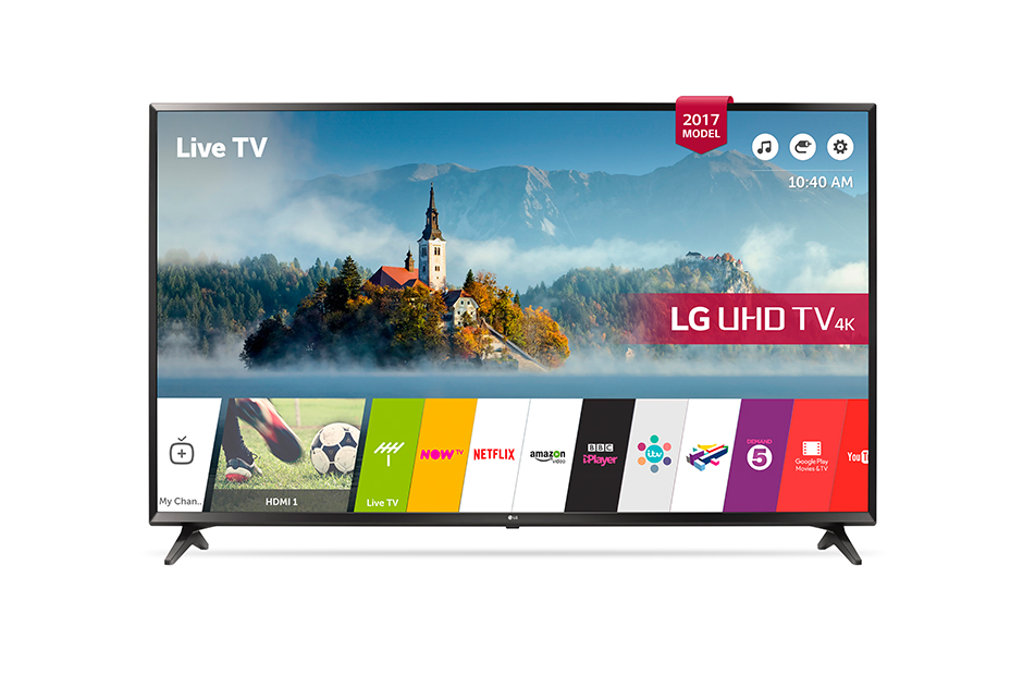 LG 43UJ630V 43 Inch Smart 4K LED TV