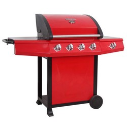 Lifestyle LFS688 Grenada 4 Burner Gas BBQ Red