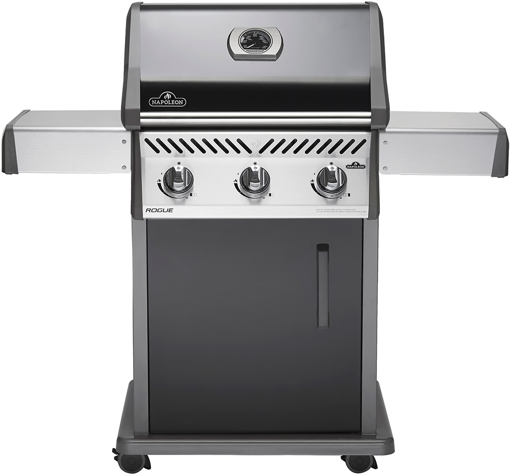 Napoleon R425PK Rogue R425-1 Black 3 Burner Gas BBQ