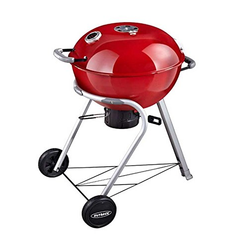 Outback Comet Charcoal Kettle BBQ Grill - Red 370579