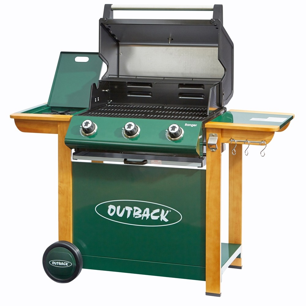 Outback 370762 Ranger 3 Burner Gas Hooded BBQ
