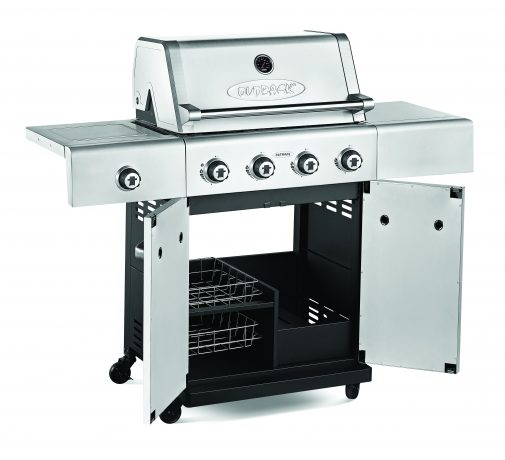 Outback 370616 Jupiter 4 Gas Hooded Steel BBQ