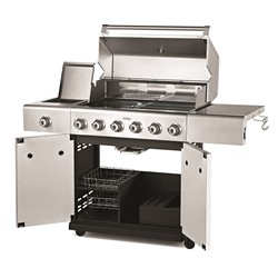 Outback 370704 Jupiter 6 Stainless Steel Gas Hooded BBQ