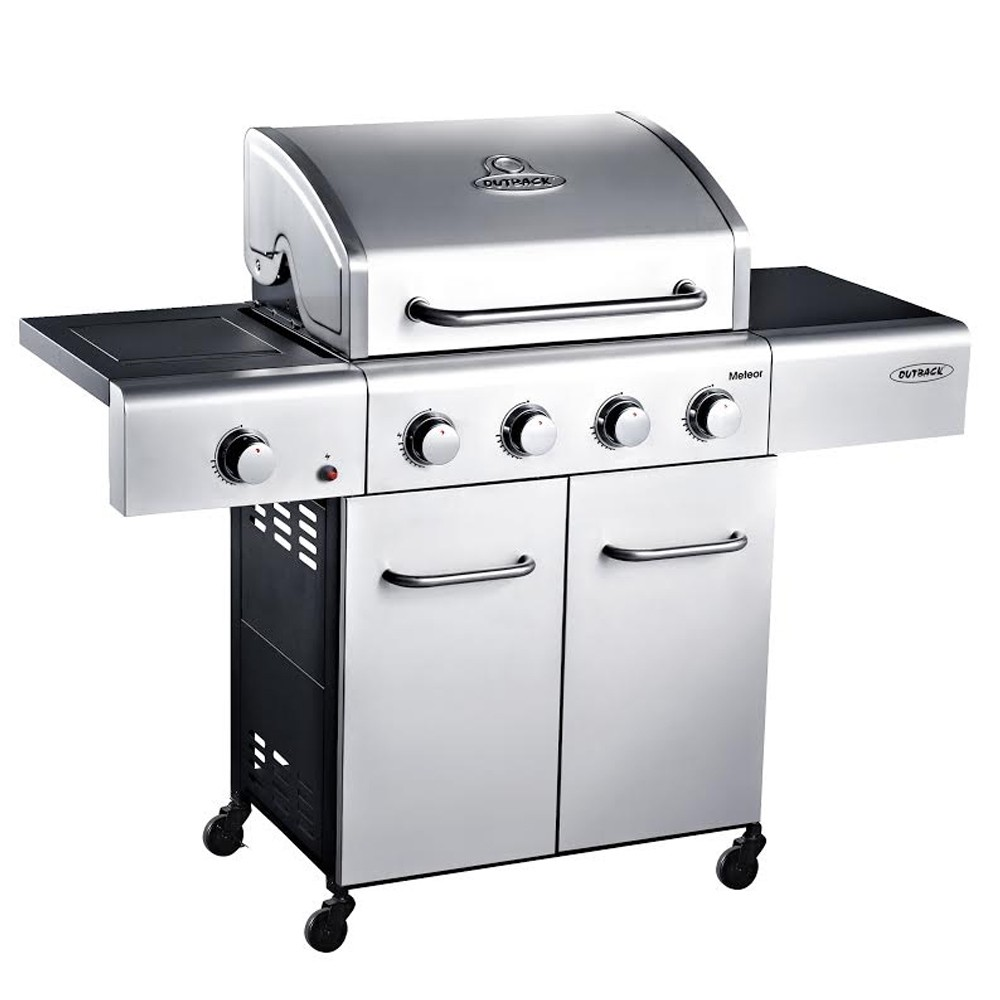 Outback Meteor Stainless Steel 4 Burner Gas BBQ 370700