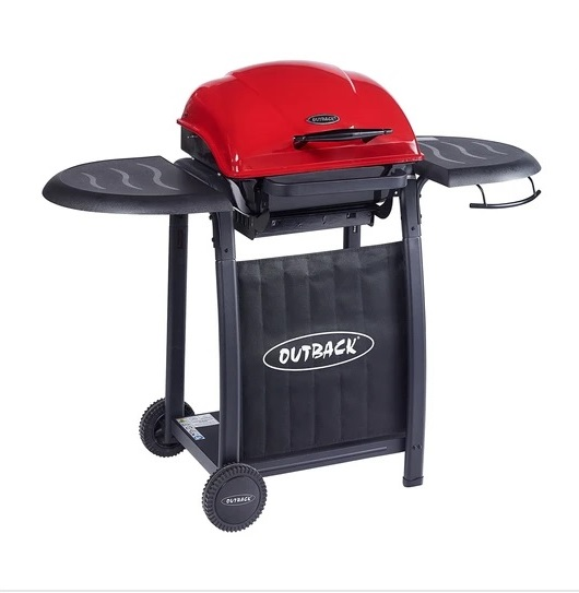 OUTBACK OMEGA 201 RED CHARCOAL HOODED BBQ 370716