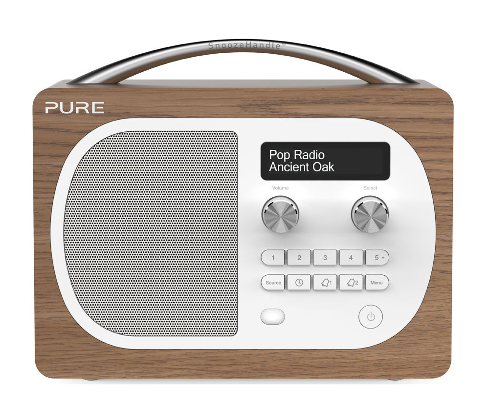 Pure Evoke D4 Oak DAB FM Portable Radio