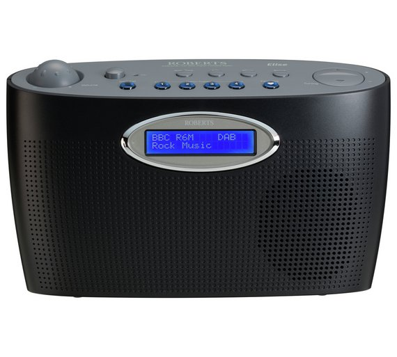 Roberts Elise Black - Elegant Portable DAB/FM RDS Digital Radio