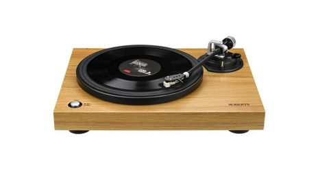 ROBERTS RT100 Two Speed USB Turntable, Natural Wood
