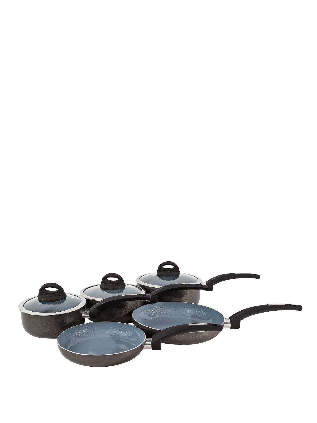 Tower T80303 Ceramic-Coated five-piece Pan Set