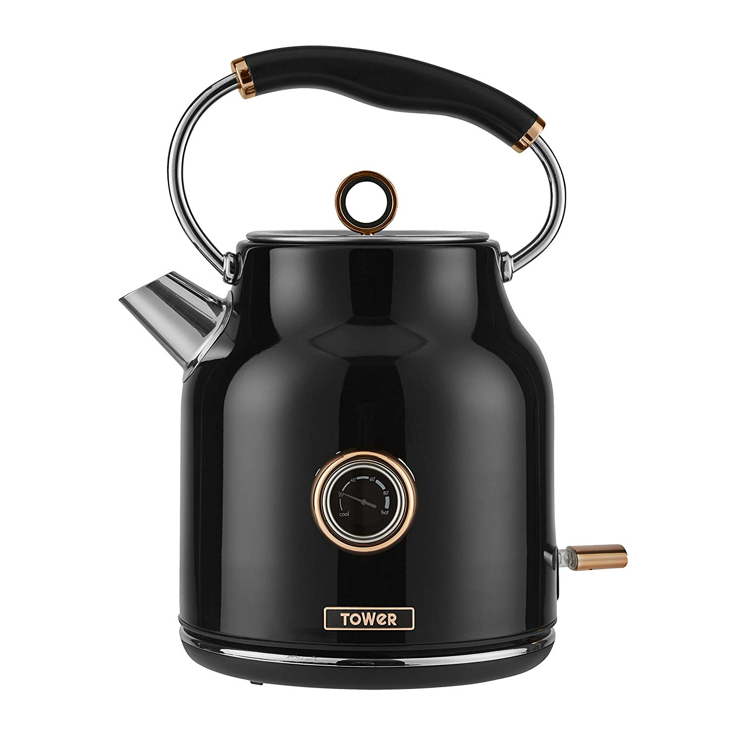 Tower T10020 Black & Rose Gold 1.7L Traditional Kettle