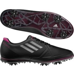 Adidas Ladies Adizero Tour Golf Shoes (Black) - Ladies 7 Black Regular