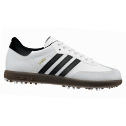 Adidas SAMBA   Size  8 1/2  Golf shoe White/Black 675618