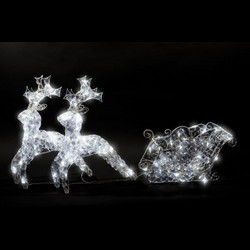 Adventa D35182J LED Crystal Sleigh 52cm