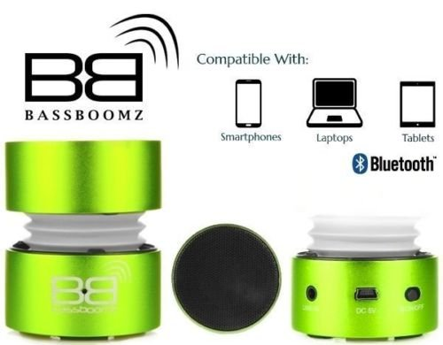 BassBuds Bluetooth Speaker with Lithium-Ion Battery - Green