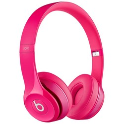 Beats Solo 2 With Mic On-Ear Headphones Pink