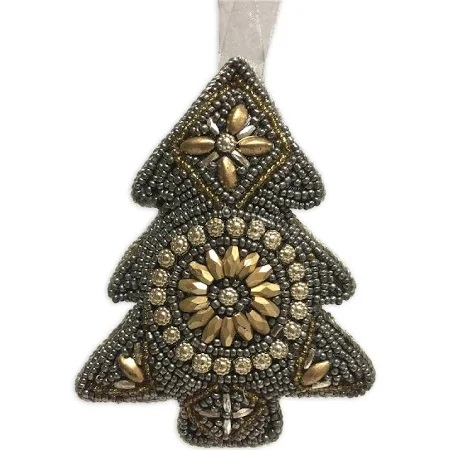 Culinary Concepts XDA-TRSG Pack of 4 Comet Gold & Smoke Beaded Tree