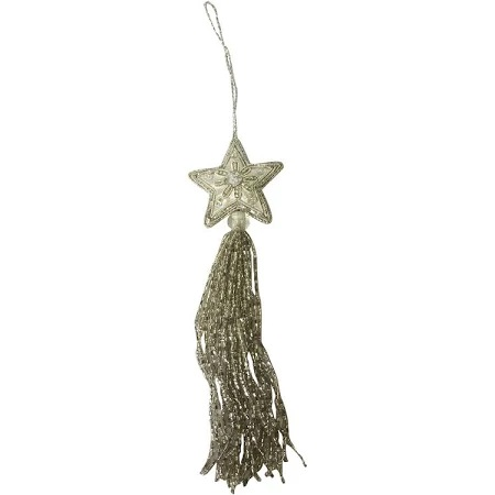Culinary Concepts XD-S186 pack of 4 Small Silver Star Beaded Hanging Decoration