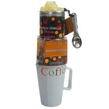 Coffee Tower Gift Set with Cinamon sticks and Coffee