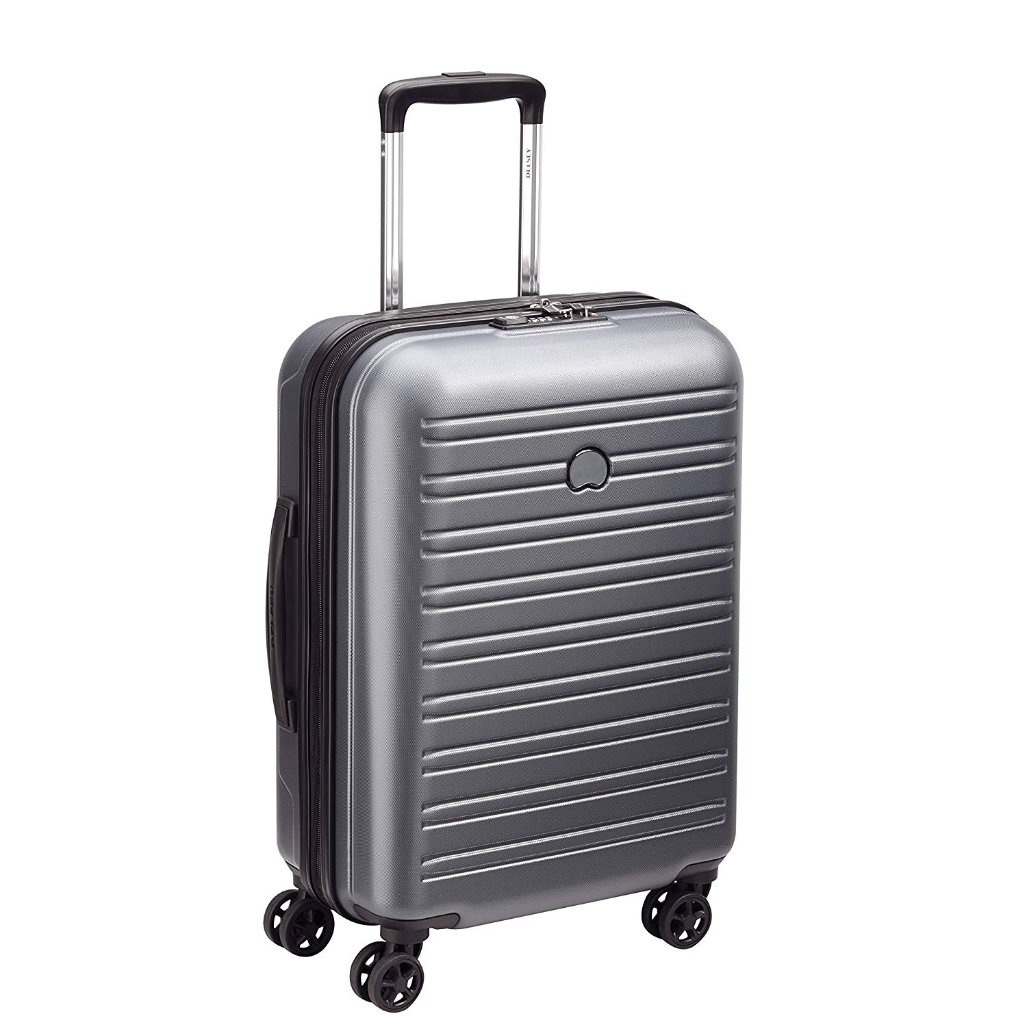 Delsey Segur 2.0 4 Wheel Cabin Suitcase - 55cm - Grey