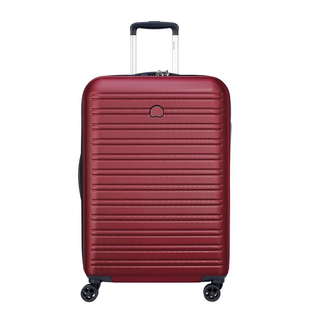 Delsey Segur 2.0 4 Wheel Cabin Suitcase - 70cm - red