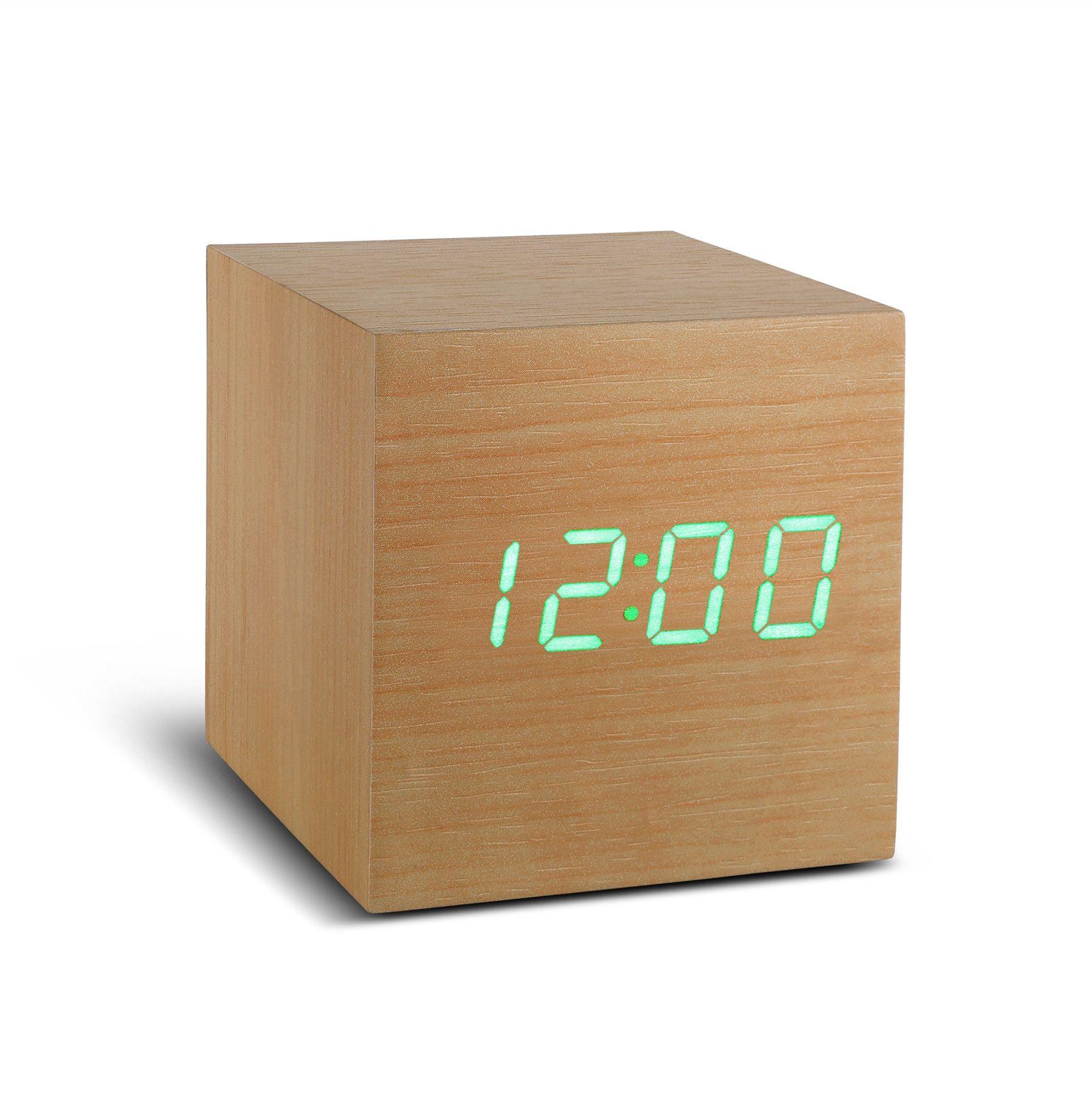 Ging-ko Maxi Cube Click Clock BEECH - 316835