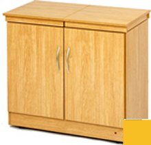 Hostess HL6236LO Lugano Oak Maestro Laminate Hostess Trolley