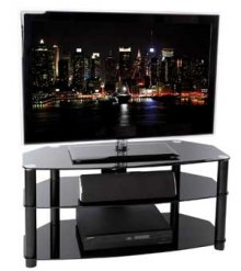 Hudson 800BK Black up to 42 inch Large Screen TV Cabinet