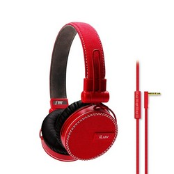 iLuv iHP636 ReF Headphones With Microphone Red