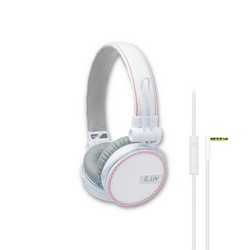 iLuv iHP636 ReF Headphones With Microphone White