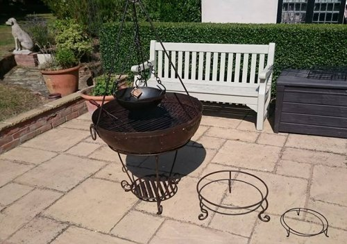 Kadai 80 cm Fire Pit/ BBQ with Cooking Pot
