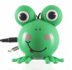 KitSound Mini Buddy Frog Speaker Compatible with iPod