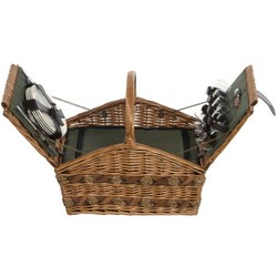 Lifestyle 4 Person Willow Picnic Hamper LFS1001