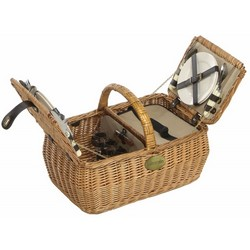 Lifestyle 4 Person Willow Picnic Hamper LFS1004