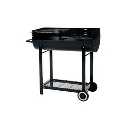 Lifestyle 1/2 Barrel charcoal BBQ with windshield LFS253