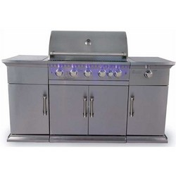 Lifestyle Bahama Island Stainless Steel Hooded Gas BBQ LFS680