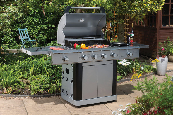 Lifestyle St Lucia Stainless Steel 4+2 Burner Hooded Gas BBQ LFS681