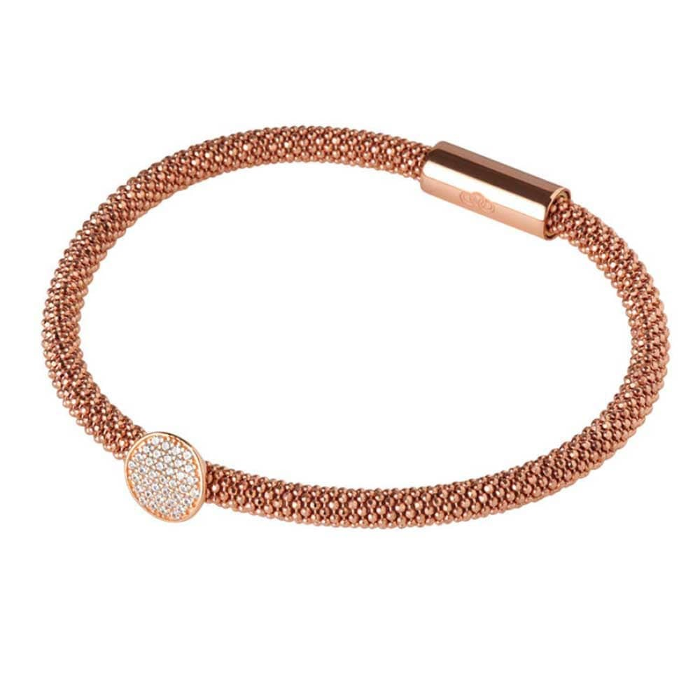 Links of London Star Dust Rose Gold Plate Round Bracelet 5010.2489